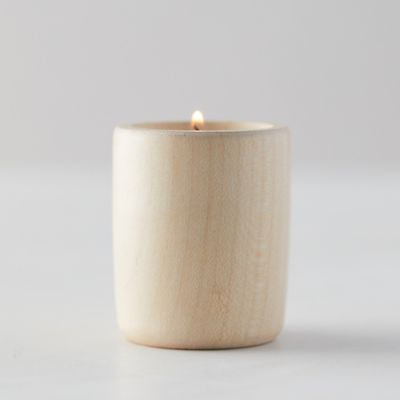Rubberwood Tea Light Holder