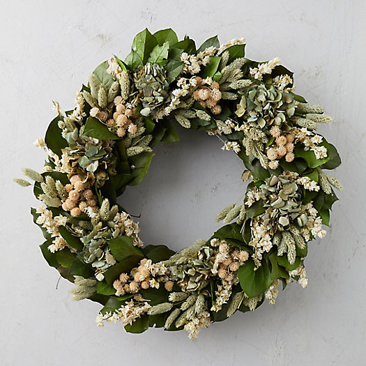 View larger image of Hydrangea + Amaranthus Wreath