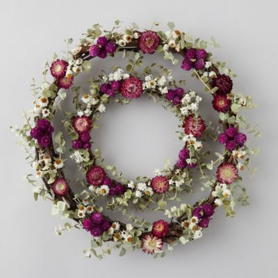 Eucalyptus + Strawflower Wreath