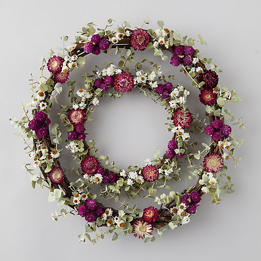 View larger image of Eucalyptus + Strawflower Wreath