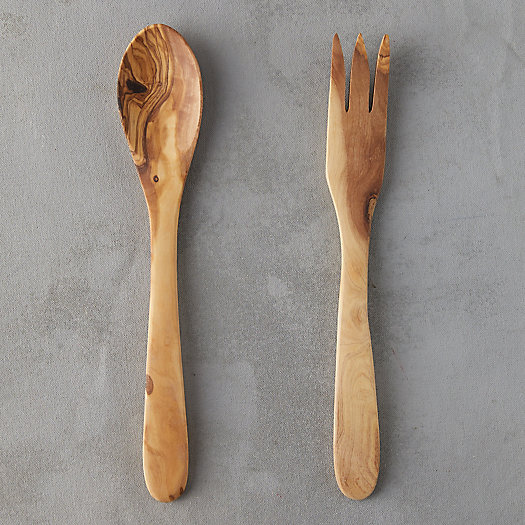 View larger image of Olive Wood Salad Servers