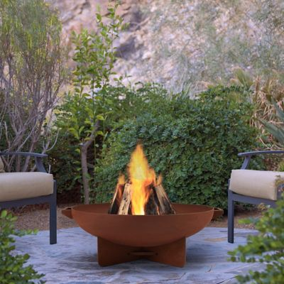 Real Flame Anson Footed Round Fire Bowl