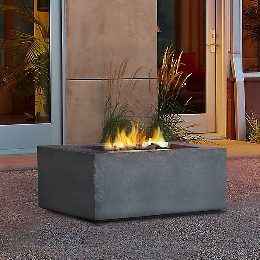 View larger image of Real Flame Baltic Natural Gas Fire Table, Square
