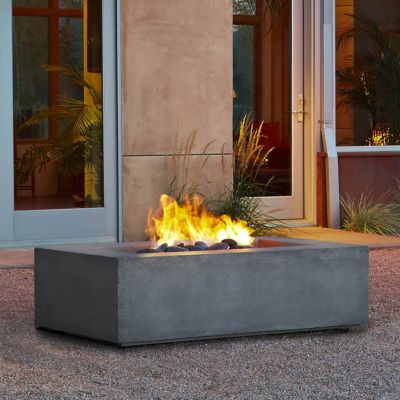 Real Flame Baltic Natural Gas Fire Table, Rectangle