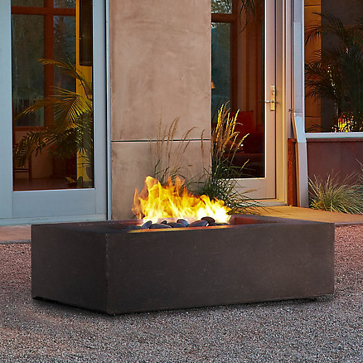 View larger image of Real Flame Baltic Natural Gas Fire Table, Rectangle