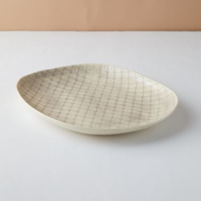 Color Washed Serving Platter, Small
