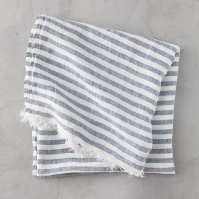Linen Stripe Beach Towel