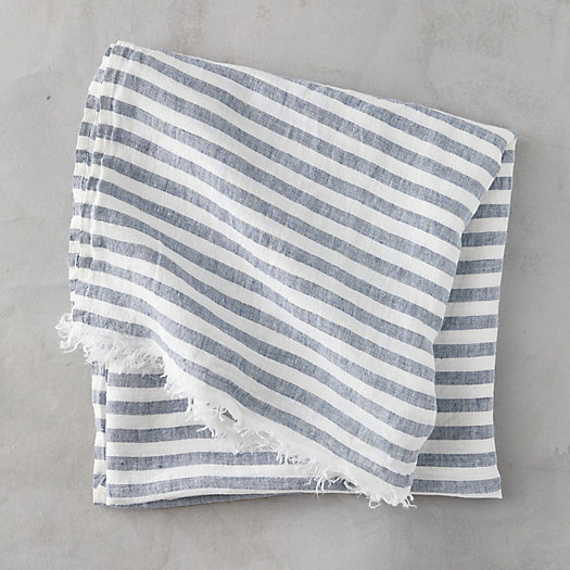 View larger image of Linen Stripe Beach Towel