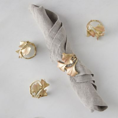 Ginkgo Napkin Rings, Set of 4