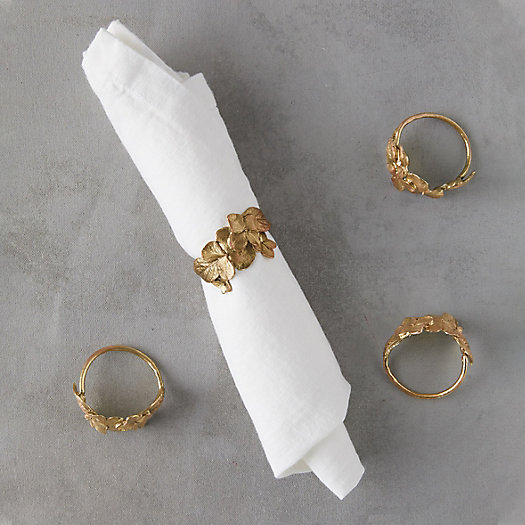 View larger image of Hydrangea Napkin Rings, Set of 4