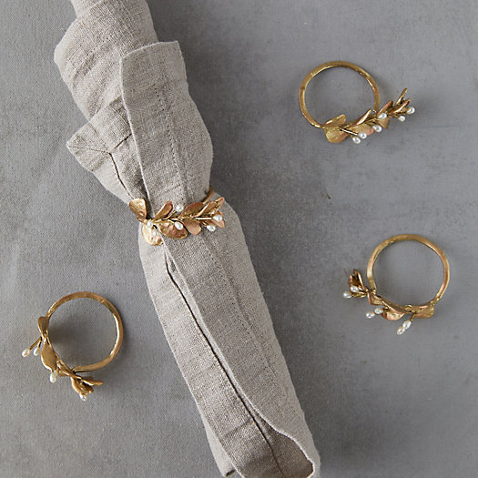 View larger image of Boxwood Napkin Rings, Set of 4