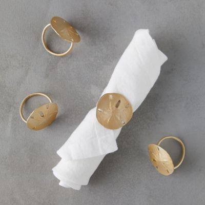 Sand Dollar Napkin Rings, Set of 4