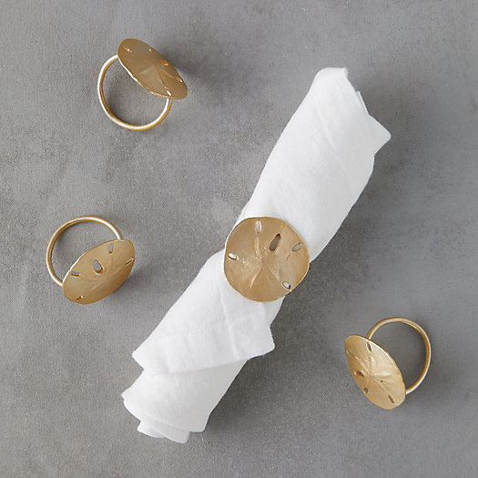 View larger image of Sand Dollar Napkin Rings, Set of 4