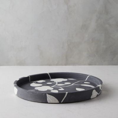 Graphic Floral Tray