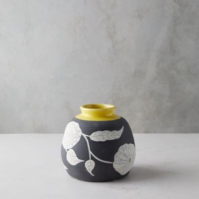 Graphic Florals Vase