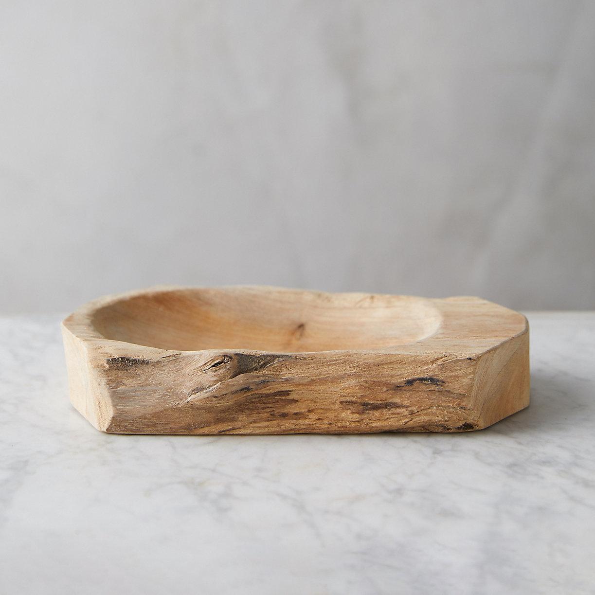 Teak Wood Soap Dish Terrain