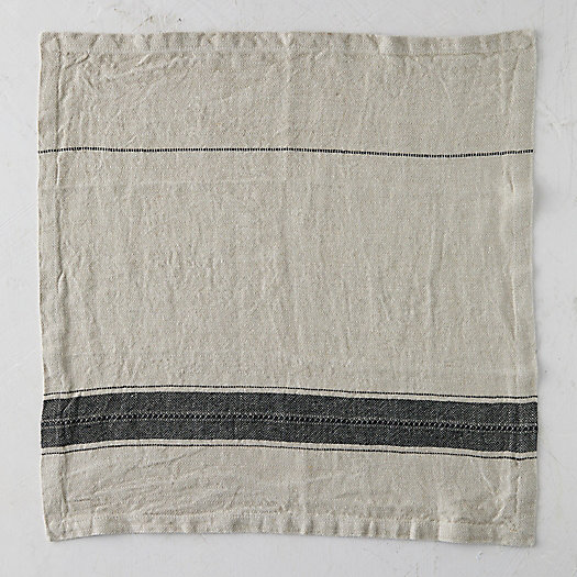 View larger image of Washed Linen Stripe Napkin