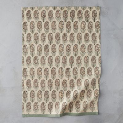 Paisley Leaf Tea Towel