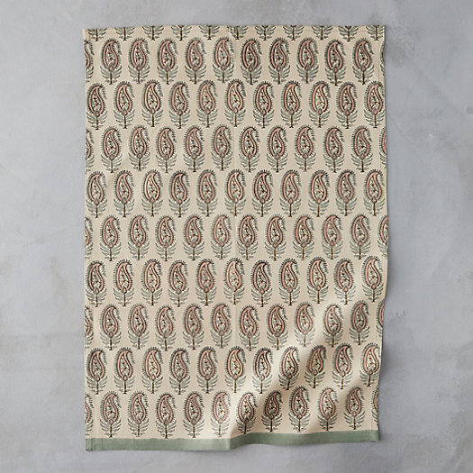 View larger image of Paisley Leaf Tea Towel