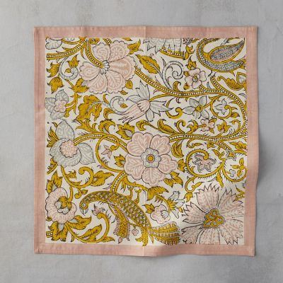 Rose Peacock Napkin Set