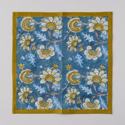 Blue Tropicals Napkin Set