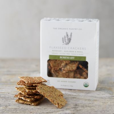 Rosemary Flaxseed Crackers