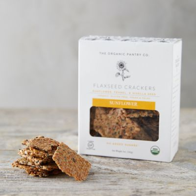 Sunflower Flaxseed Crackers