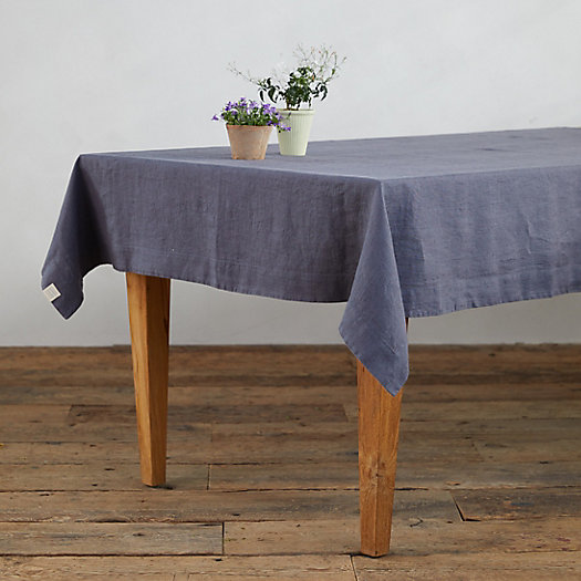 View larger image of Lithuanian Linen Tablecloth, Charcoal Gray