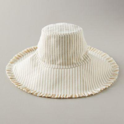 Fringed Canvas Sun Hat
