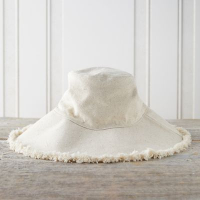 Fringed Canvas Sun Hat
