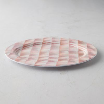 Color Burst Melamine Serving Plate