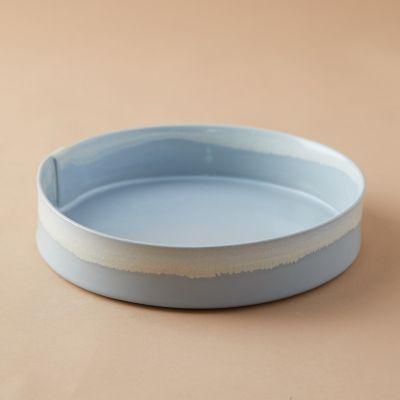 Color Drip Ceramic Serving Bowl