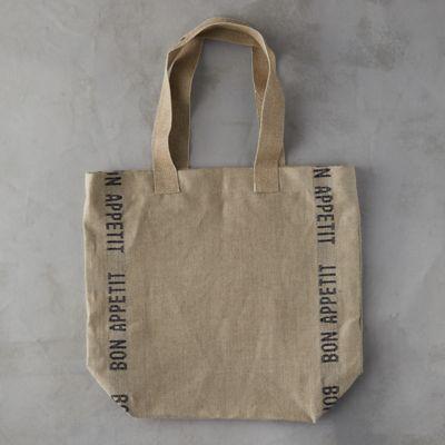 Bon Appetit Linen Tote Bag