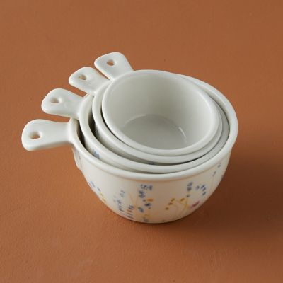Floral Ceramic Measuring Cups