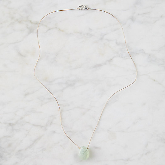 View larger image of Prehnite Nugget Necklace