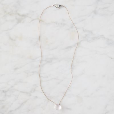Rose Quartz Droplet Necklace