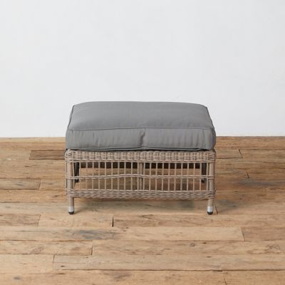 Trellis Weave All Weather Wicker Ottoman
