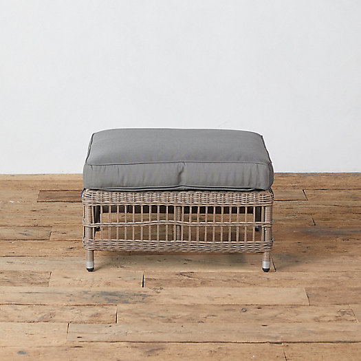 View larger image of Trellis Weave All Weather Wicker Ottoman