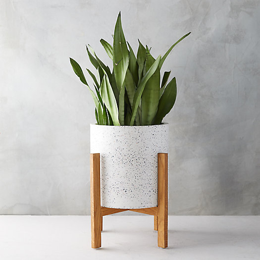 View larger image of Terrazzo Planter, Wood Stand