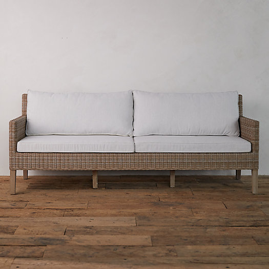 View larger image of Wicker + Teak Two Seat Sofa