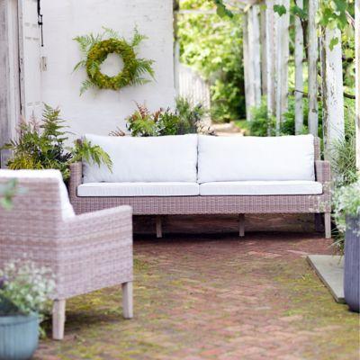 Ridgeline Wicker + Teak Two Seat Sofa
