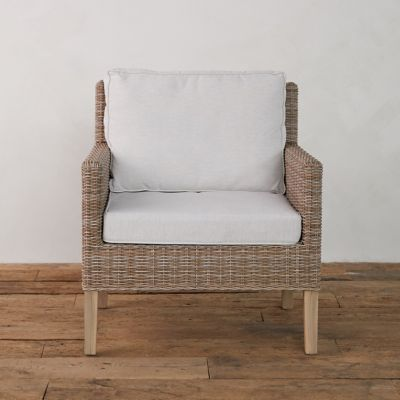 Wicker + Teak Chair