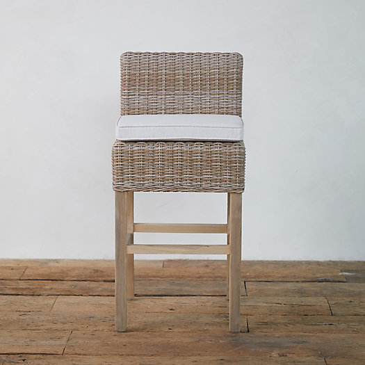 View larger image of Wicker + Teak Counter Stool