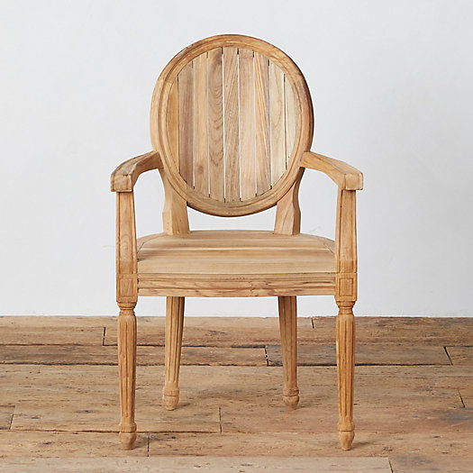 View larger image of Palladio Oval Back Teak Armchair