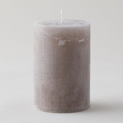 Marbled Color Pillar Candle