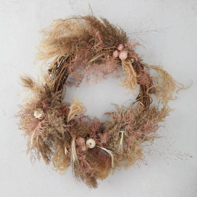 Plumosa + Pampas Wreath