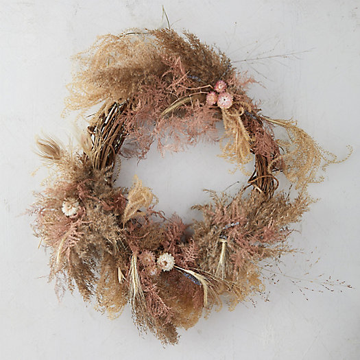 View larger image of Plumosa + Pampas Wreath