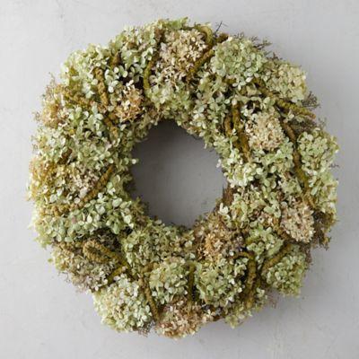 Hydrangea + Amaranthus Wreath