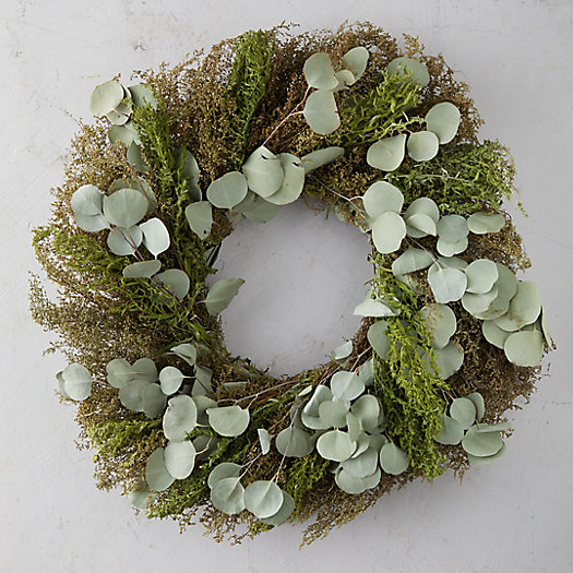 View larger image of Eucalyptus + Artemisia Wreath
