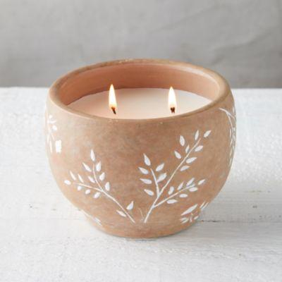 White Sprigs Citronella Candle
